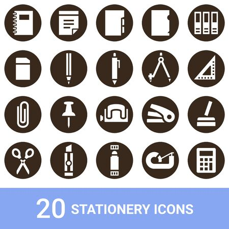 Product Icon Stationery White Pulling out 20 sets