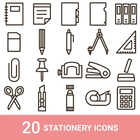 Product Icon Stationery Line 20 sets