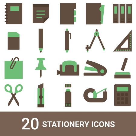 Product Icon Stationery Color 20 Sets
