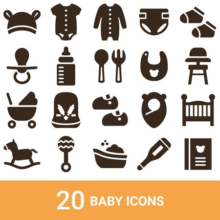 Product Icon Baby Silhouette 20 sets