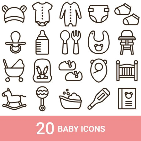 Product Icon Baby Line 20 Sets