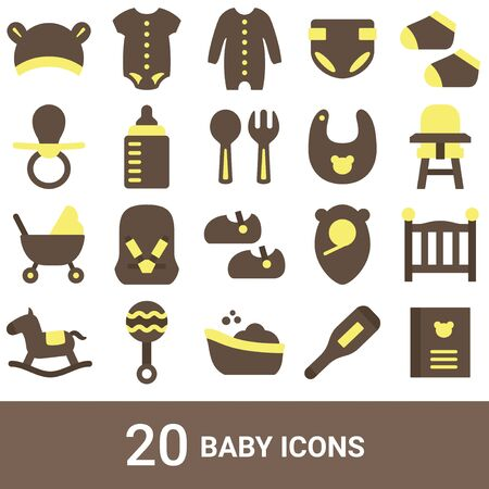 Product Icon Baby Color 20 Sets  イラスト・ベクター素材