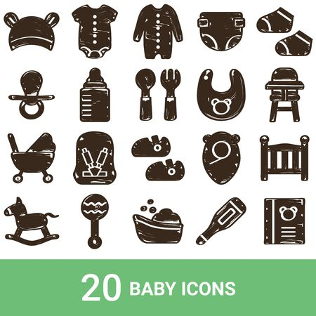 Product Icon Baby Handwriting 20 Sets