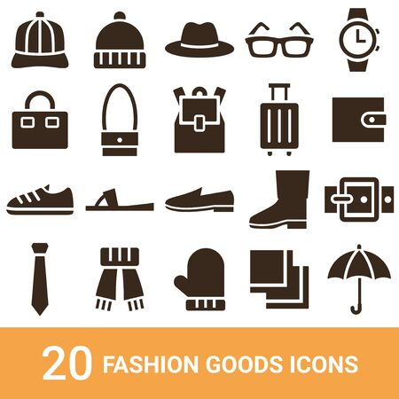 Product Icon Fashion Goods Silhouette 20 Sets