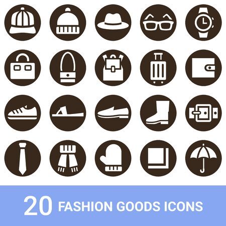 Product Icon Fashion Goods White 20 sets