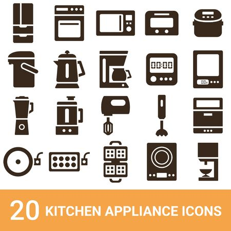 Product Icon Kitchen Appliance silhouette 20 sets