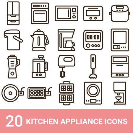 Product Icon Kitchen Appliance line 20 sets 写真素材 - 135924244