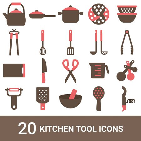 Product Icon Kitchen Tools Color 20 Sets