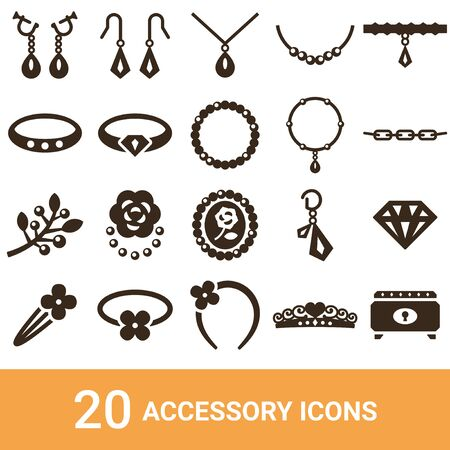 Product Icon Accessories Silhouette 20 Sets