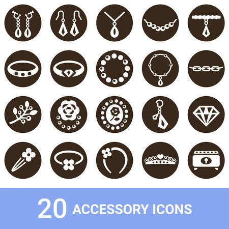 Product Icon Accessories White 20 Sets