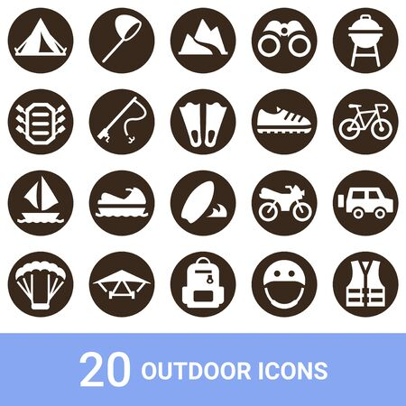 Product Icon Outdoor White Pullout 20 Sets