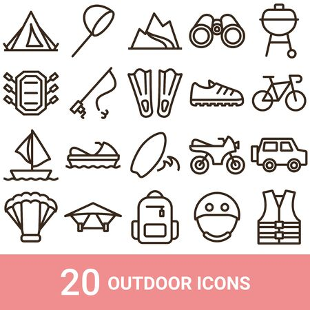 Product Icon Outdoor Line 20 Sets
