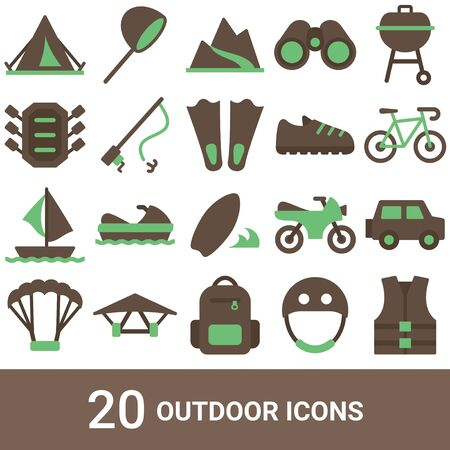 Product Icon Outdoor Color 20 Sets