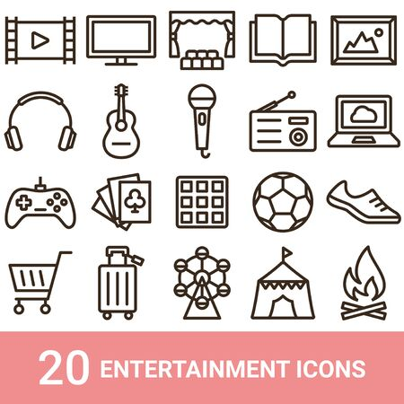 Product Icon Entertainment Line 20 Sets
