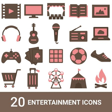 Product Icon Entertainment Color 20 sets  イラスト・ベクター素材