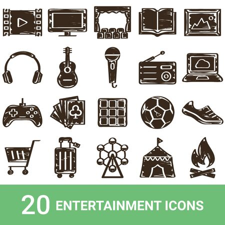 Product Icon Entertainment Handwriting 20 sets