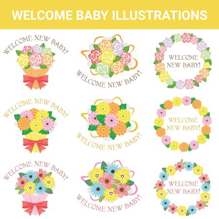 Festive Material Maternity Celebration Illustration Set
