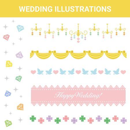 Festive Material Wedding Illustration Set