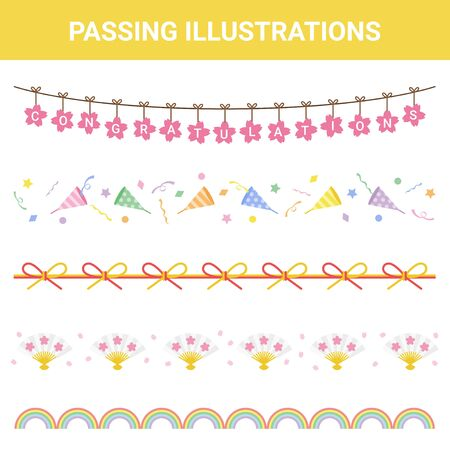 Festive Material Pass Illustration Set