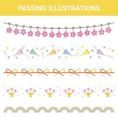 Festive Material Pass Illustration Set
