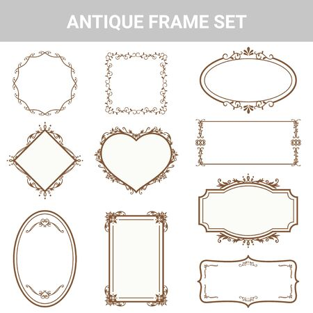 Decorative antique frame set