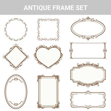 Decorative antique frame set