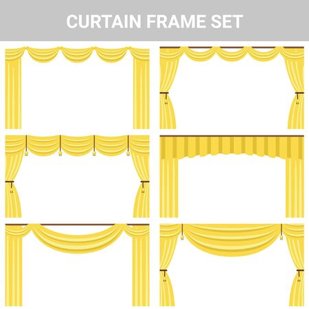 Decorative material curtain frame set 写真素材 - 150165013
