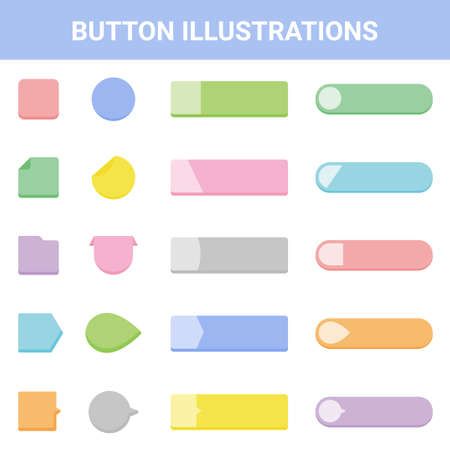 Headline Button Illustration Set Stock Illustratie