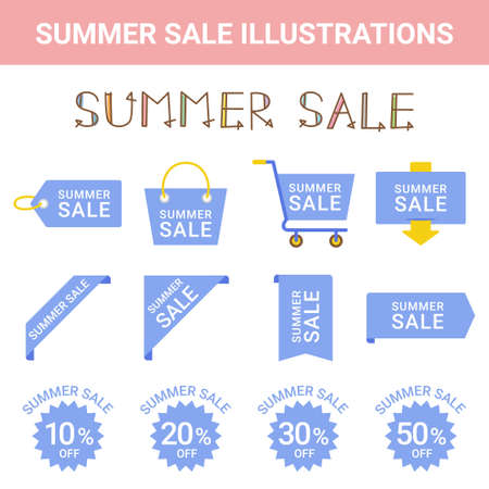 Sale Summer Sale Illustration Set