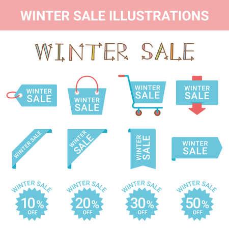 Sale Wintersale Illustration Set