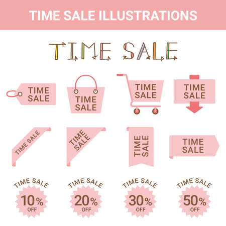 Sale Time Sale Illustration Set