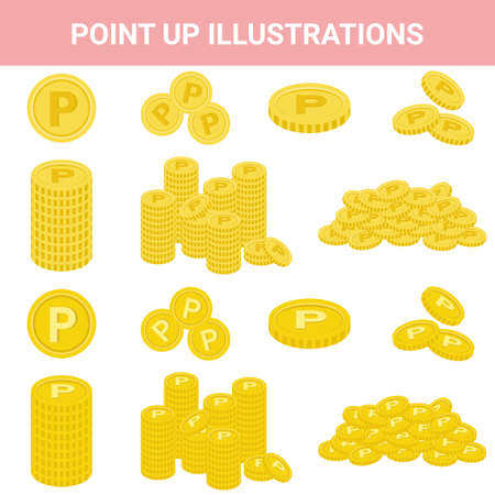 Sale Point-Up Illustration Set