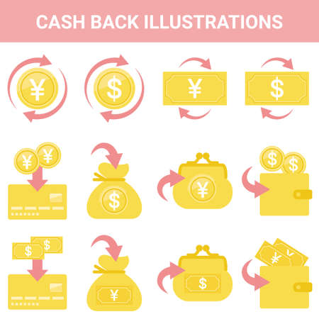Sale Cashback Illustration Set