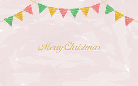 Annual event Christmas flag watercolor background