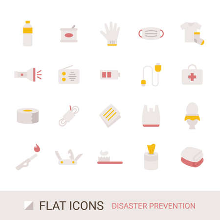 Product Icon Disaster Prevention Goods Flat Icon Stockfoto - 167210895