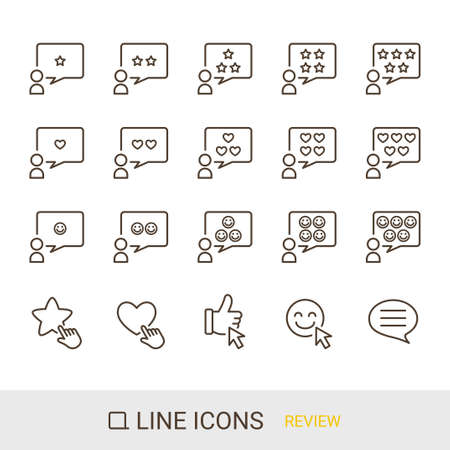 EC Site Icon Classic Content Review Line Icon