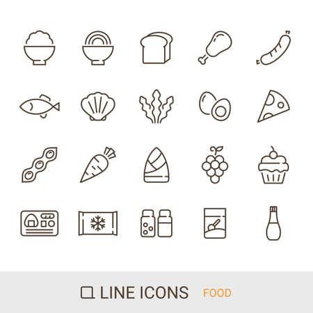 Product icon Food line icon  イラスト・ベクター素材