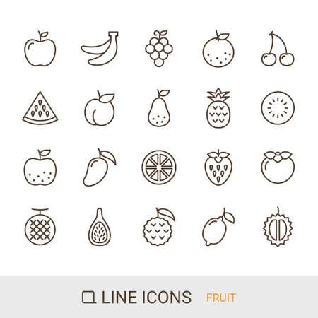 Product icon Fruit line icon  イラスト・ベクター素材