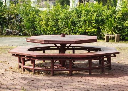 octogonal: mesa de picnic octogonal