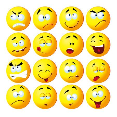 interesting: Funny cartoon face vector illustration Illustration