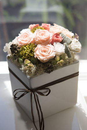 a beautiful present, preserved flower