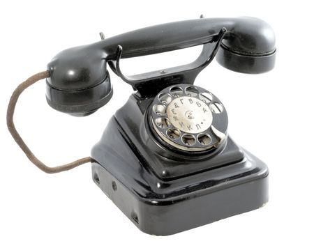 rotary dial telephone: Rotary telephone Stock Photo
