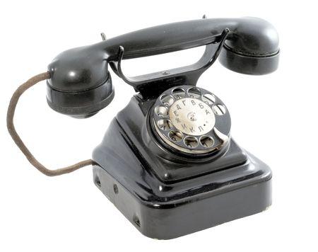 rotary: Rotary telephone Stock Photo