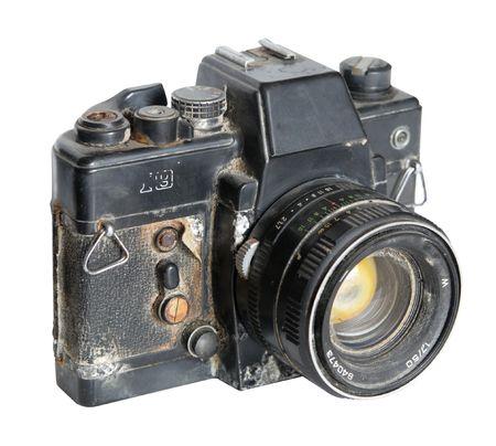 The rust classic 35mm camera photo