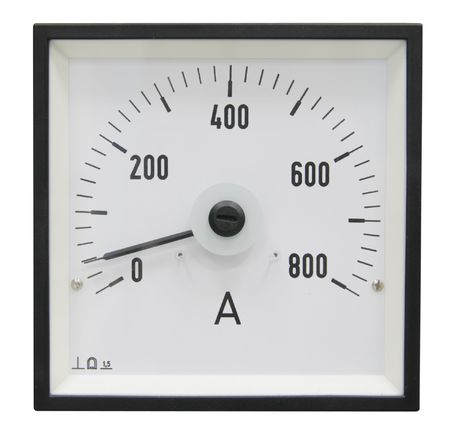 ammeter: The white modern industrial ammeter Stock Photo