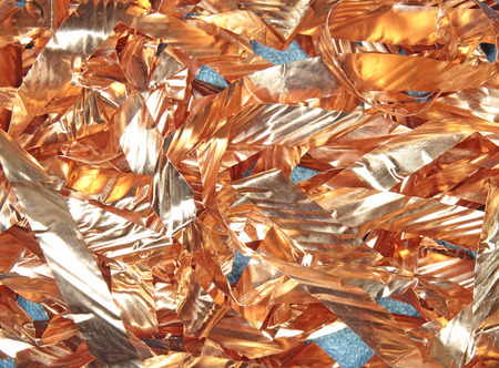 prepared: fragments of prepared copper electric cable Stock Photo