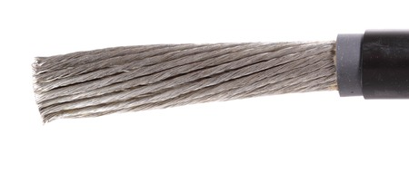 cleared: The cleared copper electric power cable