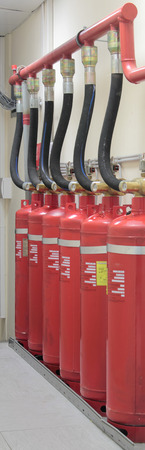 extinguishing: Industrial system of a gas fire extinguishing
