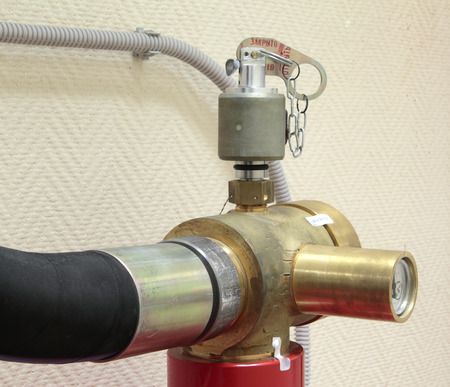 gas fire: The valve of system of a gas fire extinguishing