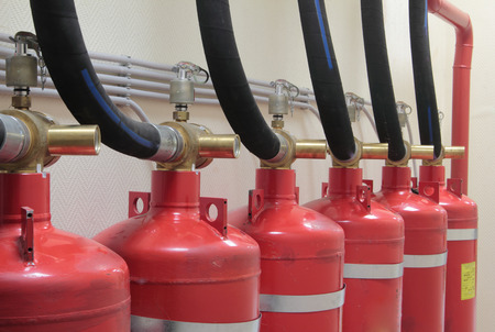 fire extinguishing: Industrial system of a gas fire extinguishing